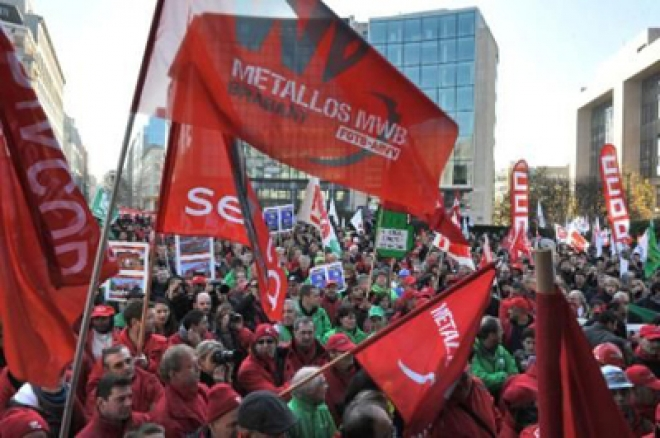 Several Thousands March In Anti-Austerity Protest In Brussels