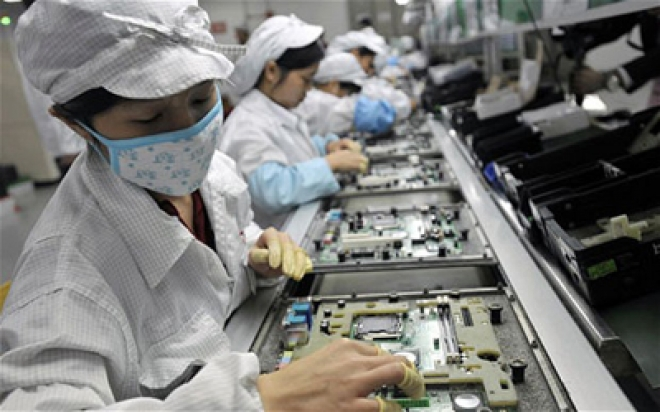 Apple Supplier Foxconn's Plant