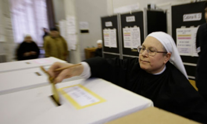 Polls Open For Final Day Of Voting In Italian Elections