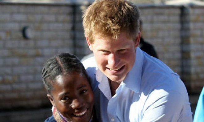 Prince Harry Visits Charity Project in Lesotho