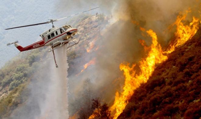 Firefighters Battle Massive California Wildfire