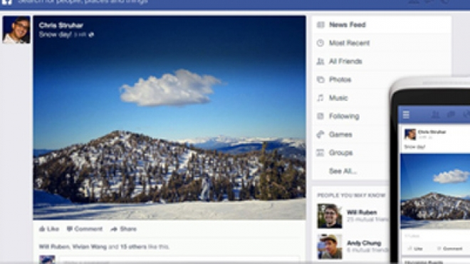 Facebook Unveils Redesigned Newsfeed