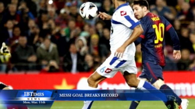 Messi Goal Breaks Record