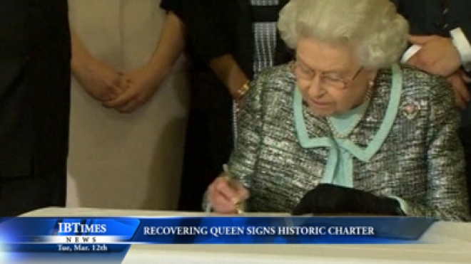 Recovering Queen Signs Historic Charter
