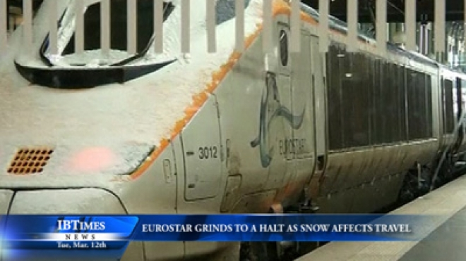 Eurostar Grinds To A Halt As Snow Affects Travel Across Northern France And Belgium