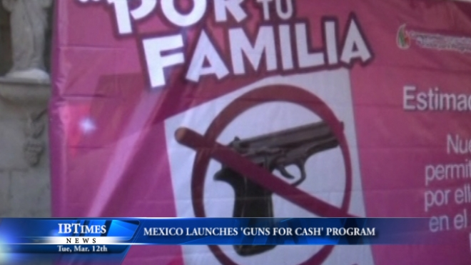 Program Launched In Mexico For Guns To Be Voluntarily Exchanged For Gifts, Cash