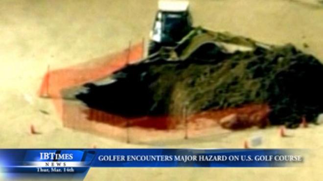 Golfer Encounters Major Hazard On U.S. Golf Course