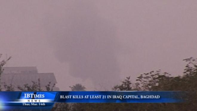 Blasts Kill At Least 21 In Centre Of Iraq Capital