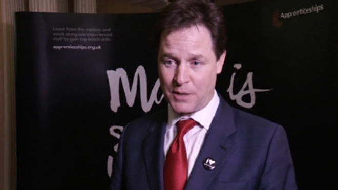 Nick Clegg launches Made by Apprentices