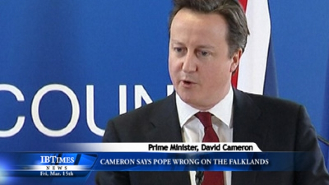 Cameron Says Pope Wrong On The Falklands