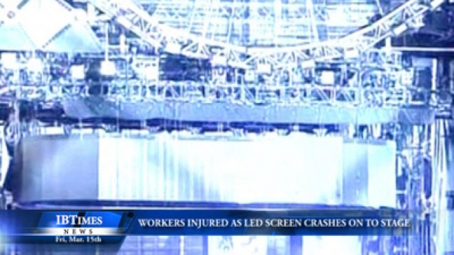 At Least Two Workers Injured As LED Screen Crashes Onto Miami Stage