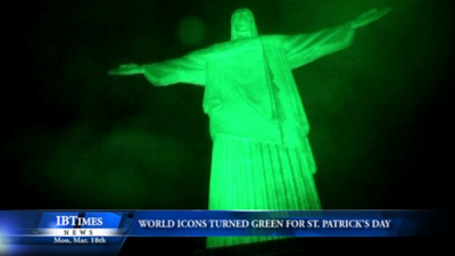 World Icons Turned Green For St Patricks Day