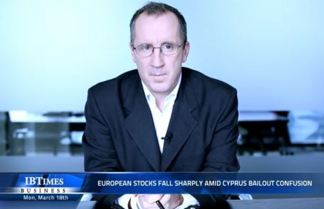 European stocks fall sharply amid Cyprus bailout confusion