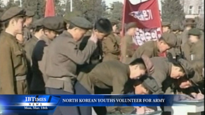 North Korean Youths Volunteer For Army