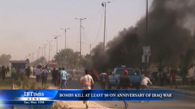 Bombs Kill At Least 50 On Anniversary Of Iraq Invasion