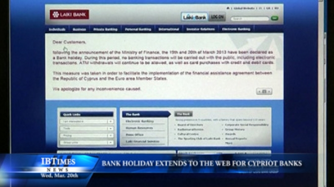 Bank Holiday Extends To the Web For Cypriot Banks