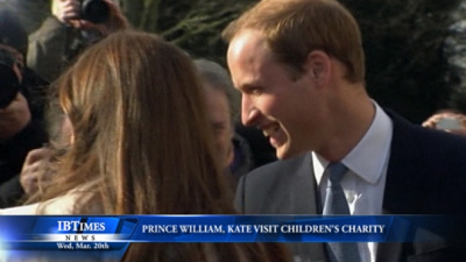 Prince William, Kate Visit Charity For Children