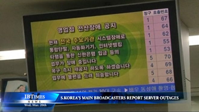 South Korea's Main Broadcasters And Some Banks Report Server Outages