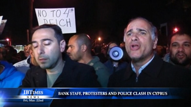 Bank Employees, Protesters And Police Clash In Cyprus