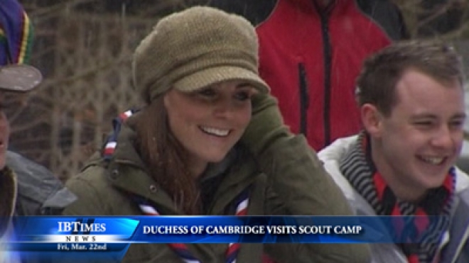 Duchess Of Cambridge Visits Scout Camp, Offers Guidance In Outdoor Cooking