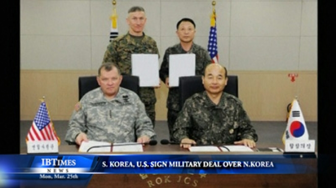 South Korea And U.S. Sign In Joint Military Deal Over North Korea