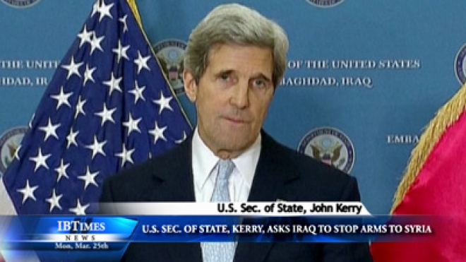 U.S. Sec. of State Kerry Asks Iraq To Stop Arms To Syria