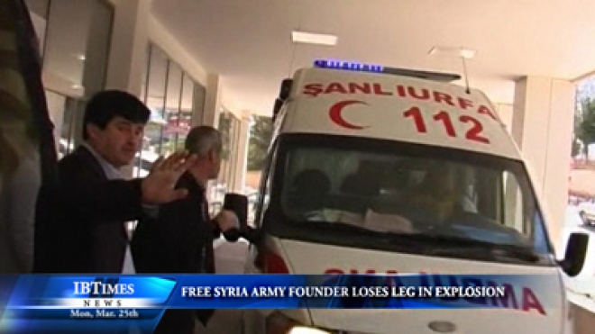 Free Syria Army Founder Loses Leg In Explosion