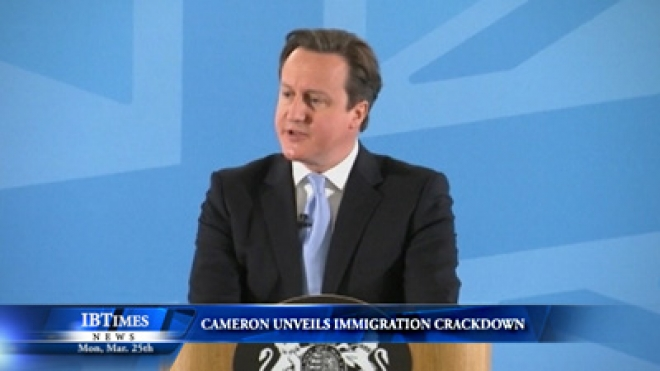 Cameron Unveils Immigration Crackdown