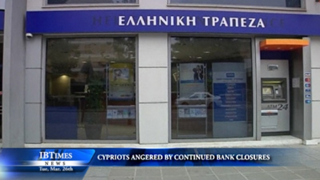 Cypriots Angered By Continued Bank Closures
