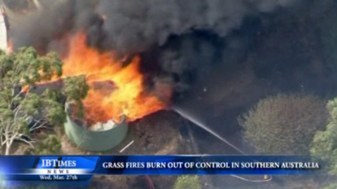 Grass Fires Burn Out Of Control In Southern Australia