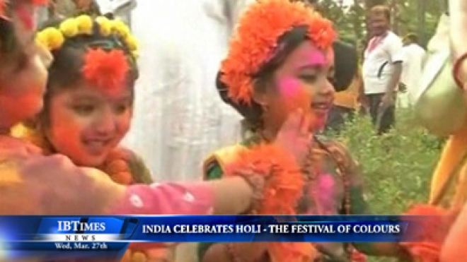 India Celebrates Holi -- Festival Of Colours