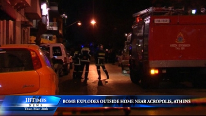 Bomb Explodes Outside Home Near Acropolis In Athens