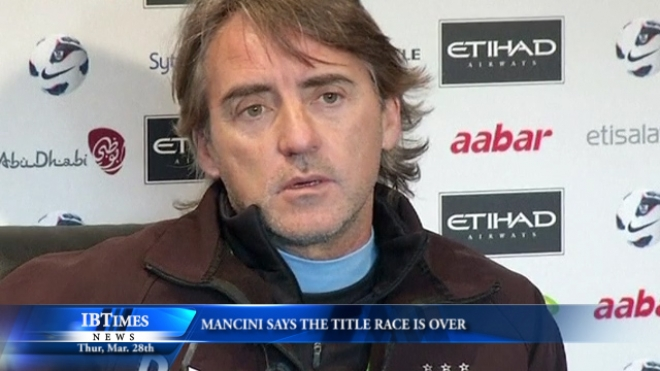 Mancini Says Title Race Is Over