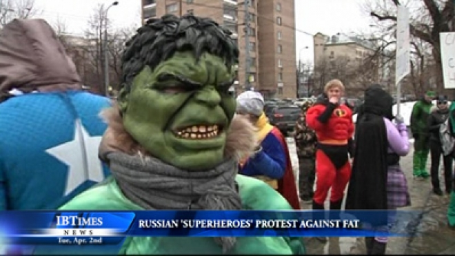 Russian Superhero Wannabes Protest Against Fat