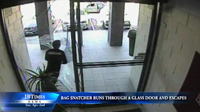 Bag Snatcher Runs Through Glass Door In Australia And Escapes