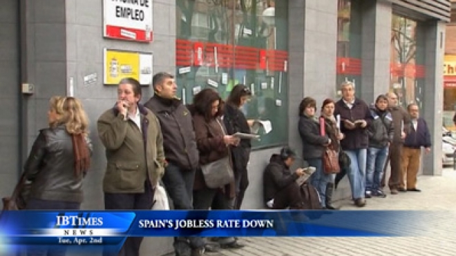 Spain Jobless Rate Down