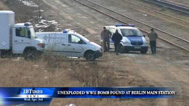 Construction Workers Find Unexploded WWII Bomb At Berlin Main Train Station