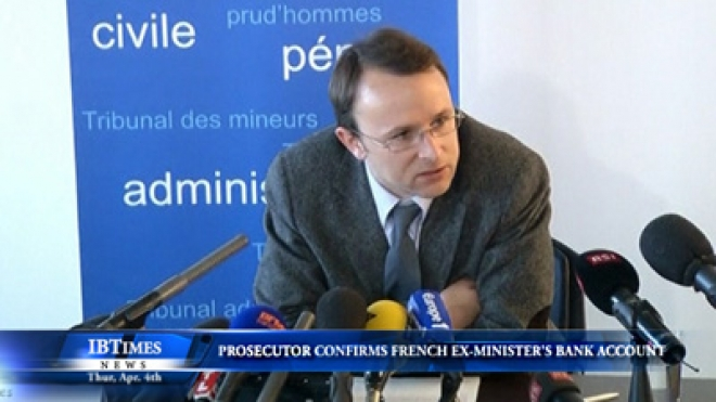 Swiss Prosecutor Confirms Existence Of French Ex-Minister Bank Account