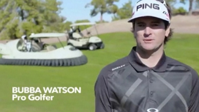 Bubba Watson Swaps Golf Cart For Hovercraft