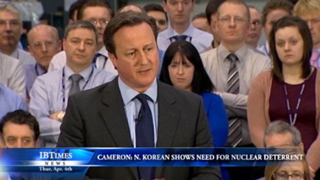 Cameron: North Korean Threats Show Need For Nuclear Deterrent