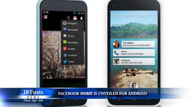 Facebook Home Is Unveiled For Android