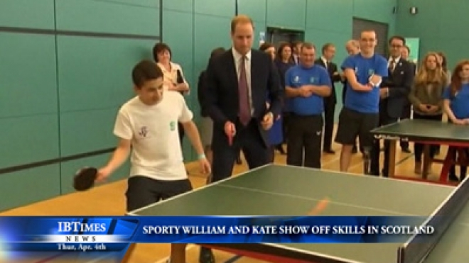Sporty William And Kate Show Off Skills In Scotland