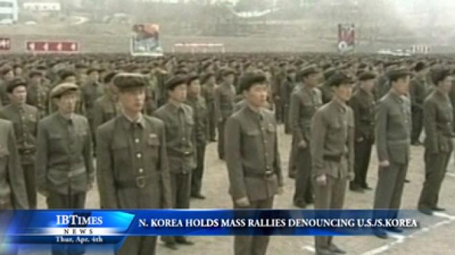 North Korea Holds Mass Rallies Denouncing U.S. And South Korea