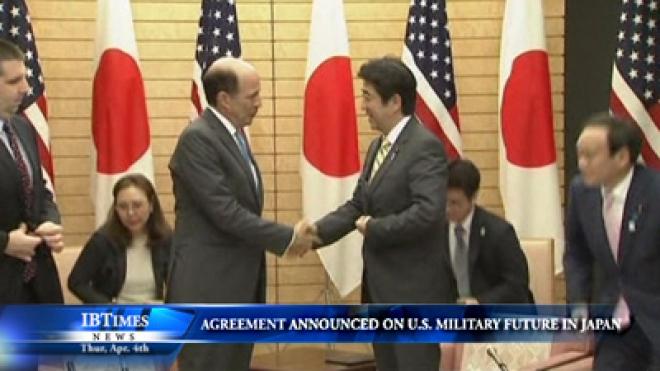 Japan Announces U.S.-Japan Agreement On U.S. Military Future In Okinawa