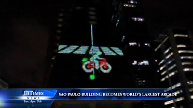 Sao Paulo Building Becomes Worlds Largest Arcade Game