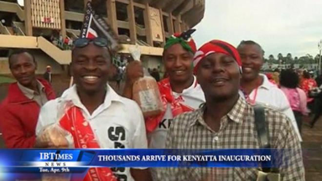 Thousands Of Kenyans Arrive At Venue Of Kenyatta Inauguration