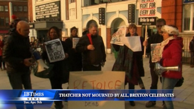 Thatcher Not Mourned By All As Brixton Celebrates