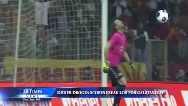 Didier Drogba scores freak lob for Galatasaray