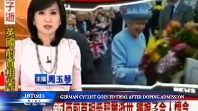 Margaret Thatcher news report accidentally uses footage of the Queen