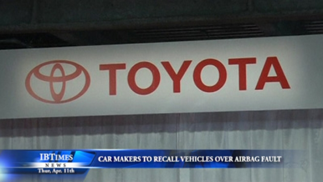 Toyota Among Four Japan Car Makers To Recall Vehicles Over Airbag Fault